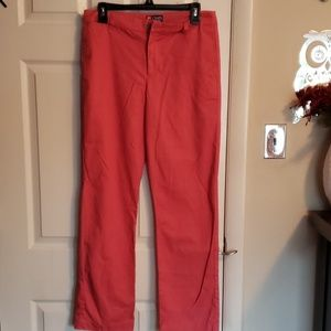 Coral colored chaps pants